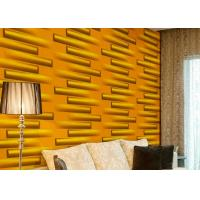Quality Removable Decorative Wall Panel 3D Wallpapers For Home Wall Decor Green / Yellow / White wholesale
