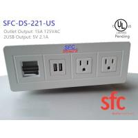 Buy cheap Edge Mount Desktop Power Outlet With USB 2 Port , 2 Outlet Power / Data Distribution Unit from wholesalers
