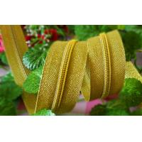 Shiny Gold Teeth Plastic Nylon Zippers 22 Inch For Clothing / Handbags 5#