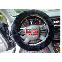 Quality Black Genuine Sheepskin Steering Wheel Cover With Australia Pure Wool wholesale