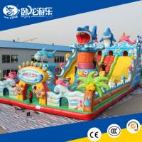 China big inflatable slide, inflatable bouncy castle on sale