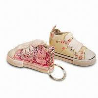 China Sports Shoe-shaped Keychain, Made of Fabric, Customized Designs are Welcome on sale
