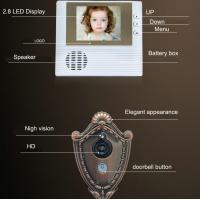 "Cheap 2.8"" LCD Screen Digital Door Peephole Viewer Camera IR LED Night Vision Home for sale"