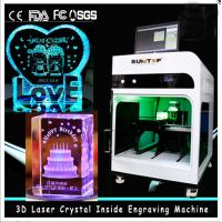 Quality 3D Crystal Laser Inner Engraving Machine 2000HZ speed 120,000 dots / Minute wholesale