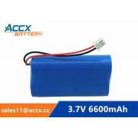 Cheap 18650 3.7V 6600mAh rechargeable li-ion battery pack 1S3P for home appliancewi with jst connector and PCM for sale
