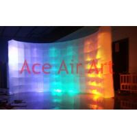 Cheap new led lighting inflatable photo booth backdrop wall for photograph on promotion for sale
