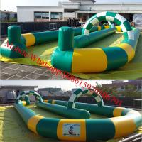 Quality Inflatable go karts track inflatable race track for sale wholesale