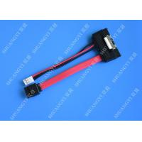 Buy cheap SATA (7+15) 22Pin Male To 7Pin Male with 4PIN Molex 4Inches Power Cable from wholesalers