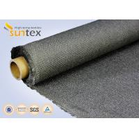 Quality Stainless Steel Wire Inserted Fiberglass Woven Fabric With Calcium Silicate Coating wholesale