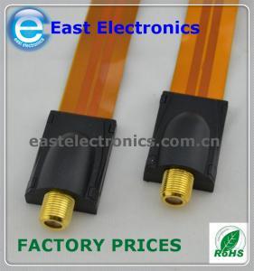 China F Flat Window Feed-Through Cable, F socket - F socket on sale