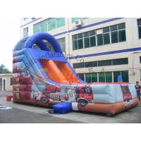 Quality Customized Outdoor Inflatable Slide / Commercial Fire Truck Inflatable Slide wholesale