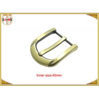 Quality 40mm Customized Fashion Gold Zinc Alloy Pin Belt Buckle Manufacturers wholesale