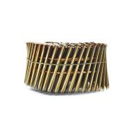 China Ring Shank Bright Finish Pallet Coil Nails Diamond / Blunt / Chisel Point Founded on sale