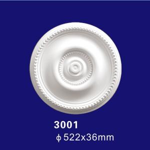 Quality 3001 Factory Price Elegant Modern Foam Ceiling Design Medallion wholesale