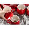 Buy cheap 350ml 13x9.5x9cm Glaze Christmas Ceramic Mugs from wholesalers