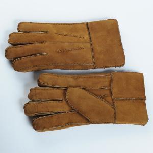Quality men sheepskin Double face gloves wholesale
