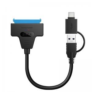 China Adapter SATA III USB 2.0 3.0 3.1 To Serial ATA 22 Pin Converter Hard Disk W/ UASP on sale