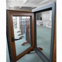 Cheap Wood aluminum composite window with hardware and glasses for sale