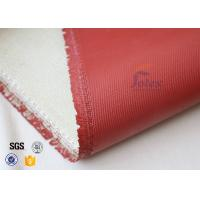 Quality 1200℃ Red Silicone Coated High Silica Fabric For Thermal Insulation Materials wholesale