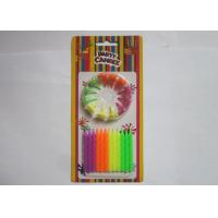 Quality Colorful Fluorescent Candles Spiral Shaped Anniversary Office Party Decorations wholesale