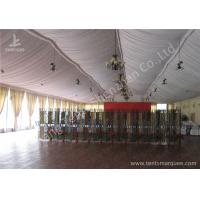 Quality Transparent Glass Wall Aluminum Profile Wedding Event Tent , White Roof Lining Decoration wholesale