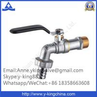 Quality Nickel Plated Brass Ball Bibcock with Steel Handle wholesale