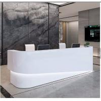 Quality Illuminated Led Color Changing Modern Office Reception Desk With Back Wall wholesale