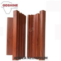 China Foshan aluminum sliding windows profiles wooden color with decoration glass on sale