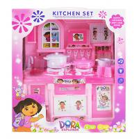 Cheap cute tableware set toys plastic kitchen toys set for for Cheap childrens kitchen sets