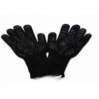 Quality Insulated Barbecue Oven Heat Resistant Work Gloves Non Slip Customized Logo wholesale