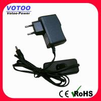 Cheap Ac Dc 5V 1A Power Adapter With Switch , Short Circuit Protection for sale