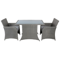 Quality H740mm Rattan Table And Chairs , Wicker Outdoor Patio Furniture Cushioned PE wholesale