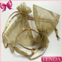 Quality Wholesale Retail Cheaper Jewelry Jewel Transparent White Silver Gold Drawstring Organza Pouches wholesale