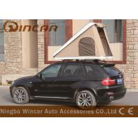 Quality Triangle Hard Shell Fiberglass Automatic Roof Top Tent , Roof Rack Pop Up Tent wholesale