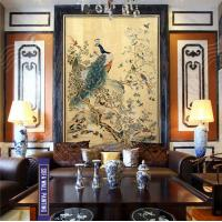 Quality Peacock Workshipping Art Decorative Painting, Traditional Chinese Painting, upscale decorative Painting wholesale
