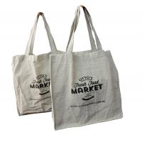 China beige linien fabric with 1 C printing normal Canvas Shpper bag on sale