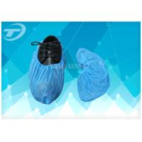Cheap Blue Anti - Skid PP Non Woven Sterile Shoe Covers Disposable / Comfortable for sale