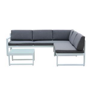Quality 2140mm Breadth 640mm Height Rattan Garden Furniture Sets , L Shape Sofa Set wholesale