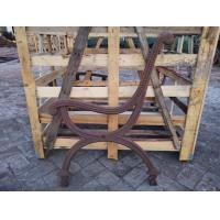 China Classics Park Wrought Iron Bench Ends / Sandblasting Cast Iron Bench Legs on sale