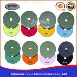 Quality High Efficiency 4 Inch Diamond Flexible Polishing Pad 1.1mm Thickness wholesale