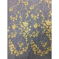China Bridal Embroidered Tulle Fabric / Mesh Lace Fabric With Colorful Flowers 100% Polyester on sale