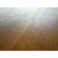 Cheap premium AB grade Burma Teak Engineered Wood Flooring with slight brushed surface and natural vanished for sale