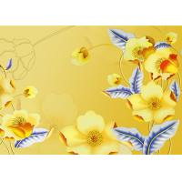 Quality Yellow Color Not Deformed Interior Wall Panels Tv Background Easy To Clean wholesale