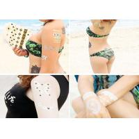 Quality Water Transfer Flash Metallic Tattoo Stickers Gold Foiled Body Decoration wholesale