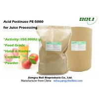 Quality Ivory Powder Pectic Enzyme Juice Processing Enyzme Produced From Aspergillus Niger 50000 U / g wholesale