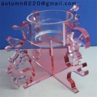 Quality CH (18) clear crystal candelabra wholesale