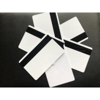 China Blank White Glossy PVC Plastic Business Cards With Hico Magnetic 85.5x54x0.76mm on sale