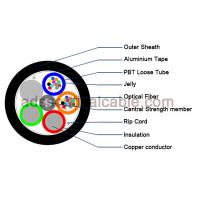 Quality Outdoor 12 Core Armoured Fiber Optic Cable GDTA Optical Power Composite Cable wholesale