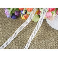 Cheap Polyester Ladder Water Soluble Chemical Lace Trim By The Yard Good Color Fastness for sale