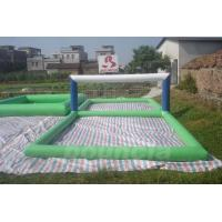 Quality Durable 0.9mm PVC Tarpaulin Inflatable Water Volleyball Court For Water Sport Games wholesale